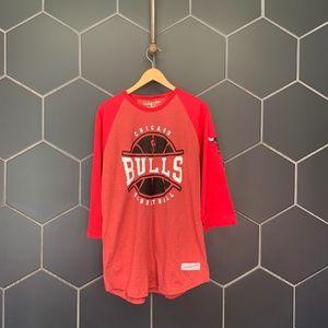 Mitchell & Ness Chicago Bulls NBA Raglan T-Shirt